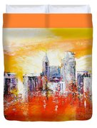 Sunrise Over The City Of Oaks Duvet Cover