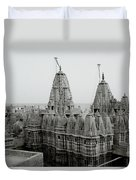 Sunrise Over The Jain Temples Duvet Cover