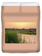 Sunrise Over The Marsh Duvet Cover
