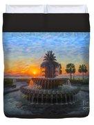 Sunrise Over The Pineapple Duvet Cover