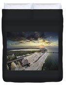 Sunrise Over The Royal Palms Duvet Cover