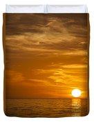 Sunrise Over The Sea Of Cortez Duvet Cover