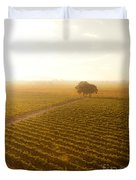 Sunrise Over The Vineyard Duvet Cover