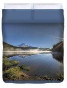 Sunrise Over Trillium Lake Duvet Cover
