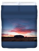 Sunrise Over Uluru Duvet Cover