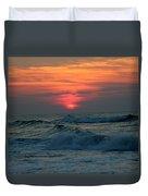 Sunrise Over Waves Duvet Cover