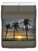 Sunrise Palms Duvet Cover