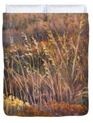 Sunrise Reflections On Dried Grass Duvet Cover