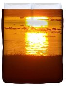 Sunrise - Reunion Island - Indian Ocean Duvet Cover by Francoise Leandre