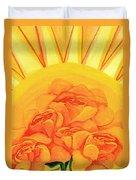 Sunrise Roses Duvet Cover