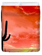 Sunrise Saguaro National Park Duvet Cover
