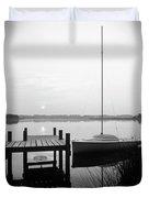 Sunrise Sail Boat Duvet Cover