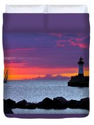 Sunrise Sailing Duvet Cover by Mary Amerman