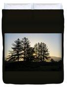 Sunrise Shines Through The Pines Duvet Cover
