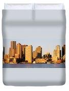 Sunrise, Skyline, Boston Duvet Cover