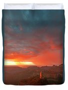 Sunrise Storm Point Imperial North Rim Grand Canyon Np Arizona Duvet Cover