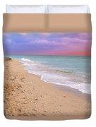 Sunrise Surf At Miami Beach  Duvet Cover