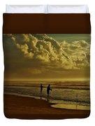 Sunrise Surf Fishing Duvet Cover
