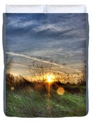 Sunrise Through Grass Duvet Cover