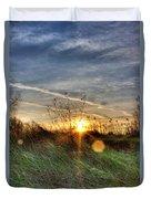 Sunrise Through Grass Duvet Cover