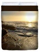 Sunrise Waves On The Rocks By Kaye Menner Duvet Cover