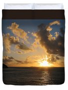 Sunrise With Clouds St. Martin Duvet Cover