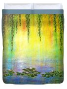 Sunrise With Water Lilies Duvet Cover