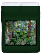 Suns Rays - Forest - Steel Engraving Duvet Cover