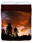 Bitterroot Valley Sunset Duvet Cover