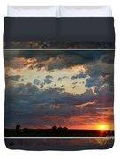 Sunset After A Thunderstorm Photoart Duvet Cover