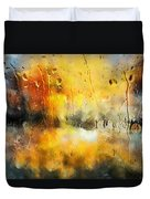Sunset After The Storm Abstract Duvet Cover