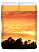 Sunset And Beautiful Clouds Duvet Cover