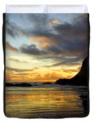 Sunset And Seal Rock Duvet Cover