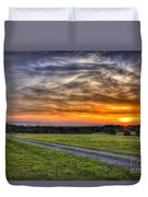 Sunset And The Road Home Duvet Cover by Reid Callaway
