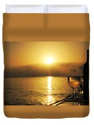 Sunset And Wine Duvet Cover
