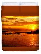 Sunset At Bic Duvet Cover