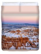 Sunset At Bryce Canyon National Park Utah Duvet Cover