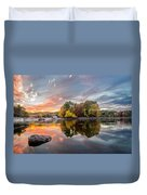 Sunset At Cambridge Reservoir Duvet Cover