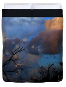 Sunset At Clam Pass Duvet Cover