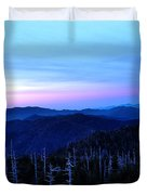Sunset At Clingman's Dome Duvet Cover