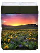 Sunset At Columbia Hills State Park Duvet Cover