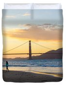 Sunset At Crissy Field With Golden Gate Bridge San Francisco Ca 5 Duvet Cover