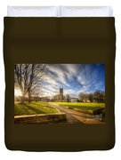 Sunset At Derby Cathedral Park Duvet Cover