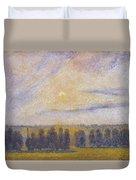 Sunset At Eragny, 1890 Duvet Cover