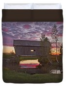 Sunset At Foster Bridge Duvet Cover