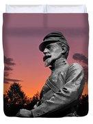 Sunset At Gettysburg  Duvet Cover