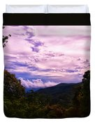 Sunset At Gorges State Park Duvet Cover