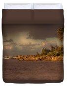 Sunset At Haleiwa Beach Oahu Hawaii V3 Duvet Cover
