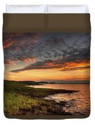 Sunset At Kent Narrows Duvet Cover