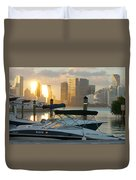 Sunset At Key Biscayne Duvet Cover